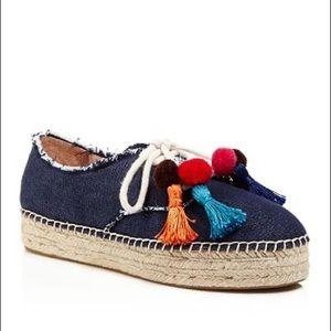 Kate Spade Lane Tassel Denim Espadrille Sneaker